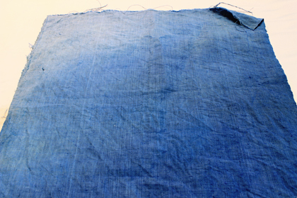 blue dyed linen