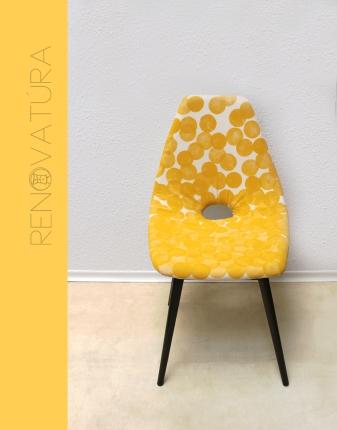 sárga pöttyös szék elölről 1