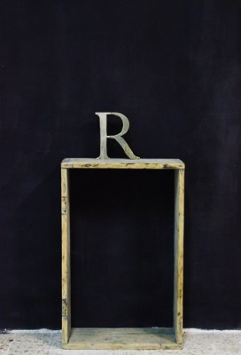 wooden letter by Renovatura