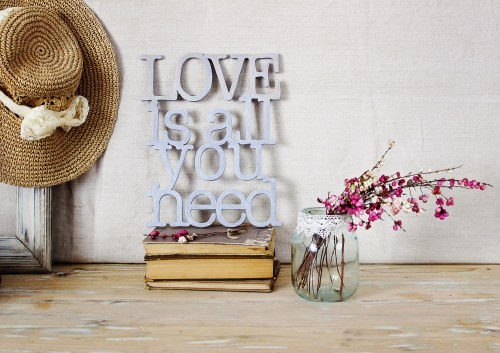 love-is-all-you-need_wooden letters by renovatura